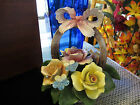 Capodimonte Cesar Porcelain Rose Flower Basket~Carlo Savastano ITALY ~ Holiday!