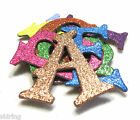 Self Adhesive 15 Metallic Glitter Chipboard Alphabet Letters stickers 60 pcs
