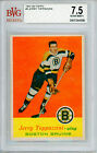 1957 58 Topps #5 Jerry Toppazzini BVG 7.5 NM+ Boston Bruins