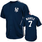 Mickey Mantle New York Yankees Majestic Cooperstown Jersey BLUE