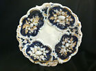 ANTIQUE MEISSEN HAND PAINTED BLUE AND WHITE FRUIT WITH SOME GOLD ACCENTS