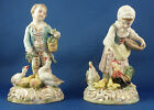 Pair of German Dresden Porcelain Figurines Feeding Time Early 20th Century