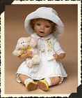 Boyds Bear Doll  Mary  with Felice  A little Lamb Easter/Spring White Dress New