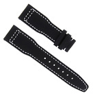 20MM CALF LEATHER STRAP BAND FOR IWC PILOT PORTUGUES BLACK  WHITE STITCHING