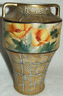 ANTIQUE ODD SHAPED NIPPON MORIAGE HAND PAINTED YELLOW FLOWERS GOLD