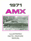 1971 71 AMC JAVELIN SST AMX ILLUSTRATED FACTS FEATURE