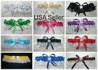 PICK FROM 12 COLOR CHOICES Satin Toss Garter Wedding Prom Anniversary