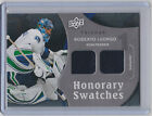 2009-10 UPPER DECK TRILOGY ROBERTO LUONGO UD HONORARY SWATCHES JERSEY CANUCKS