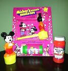Vintage CHEMTOY Mickey Mouse Mickey's Automatic Bubble Pipe W/ Box Plus Extra's