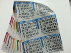 BINGO PAPER 6 CARDS SHEET 10 SHEETS BOOK 7500 CARDS 125 BOOKS