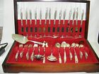Holmes Edwards Silverplate Flatware Woodsong 92 pc Set Chest / Box Post-1940