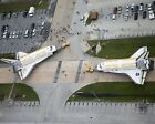 SPACE SHUTTLES DISCOVERY  ENDEAVOUR TOGETHER ON TARMAC 8X10 NASA PHOTO EP 879