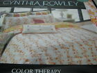 Cynthia Rowley COLOR THERAPY Full/Queen Quilt  - Flower Butterfly Orange Yellow