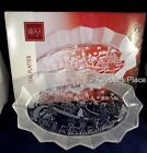 MIKASA HOLIDAY CLASSICS CRYSTAL OVAL FROSTED PLATTER 11.75