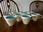 Vintage 1950's Taylor Smith Taylor (TST) Boutonniere Set Of 10 Cups Mugs Teacups
