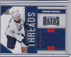 10-11 PINNACLE JORDAN EBERLE THREADS JERSEY JE 499 2010-11 EDMONTON OILERS