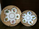 FREE SHIPPING OLD BONE CHINA 2 PIECE SET SAUCER AND DESSERT PLATE