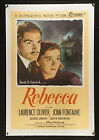 REBECCA 1946 US 1sh linen backed RI poster Alfred Hitchcock