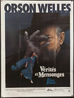 F FOR FAKE VERITES ET MENSONGES 1975 French 47x63 poster Orson Welles