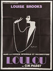 PANDORAS BOX LOULOU French 1p RI poster GW Pabst Louise Brooks filmartgallery