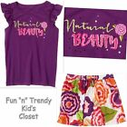 NWT OUTFIT SET LOT CRAZY 8 PRETTY PARADISE GIRLS SIZE 7 8 SKIRT SKORT SHIRT TOP