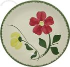BLUE RIDGE Luncheon PLATE Red & Yellow Flowers SOUTHERN POTTERIES USA   .13  FS
