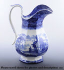 Gorgeous Blue and White Ironstone Pitcher by J. Clementson