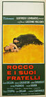 ROCCO AND HIS BROTHERS 1960 Italian 13x27 linen backed poster Luchino Visconti
