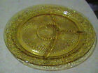 Indiana Glass Daisy Amber Grill Plate
