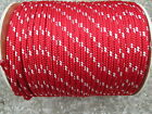 1 2 X 100 Halyard sail lineanchor rope polyester double braid 8500 USA RED