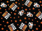 SANRIO HELLO KITTY 100%  COTTON FABRIC  I LOVE KISS  ROCKSTAR ROCK BAND  YARDAGE