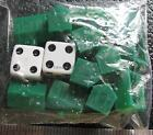 New York Jets Football new green plastic hotels dice replace game part Monopoly