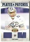 2010 Panini Gridiron Gear Tony Romo Plates and Patches Auto Card #10 10 P1163