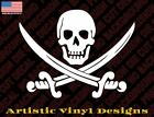 Jolly Roger skull pirate decal sticker for wall car laptop etc