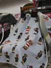 ABC Infant Car Seat Canopy Tent Features Ralph Lauren Polo Teddy Fabric