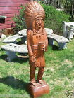 AMERICAN CIGAR STORE INDIAN FOLK ART HAND CARVED WOODEN AAFA ONE OF A KIND