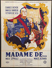 EARRINGS OF MADAME DE 1953 French 47x63 poster Max Ophuls Boyer Darrieux DeSica