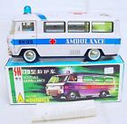 China MF-132 Emergency AMBULANCE BUS SH-120 Tin Toy Car MIB`70 VERY RARE!