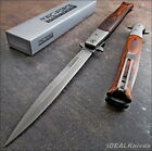 TAC-FORCE EXTRA LARGE ASSISTED OPENING STILETTO HARDWOOD Handles KNIFE NEW!