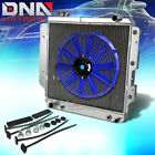 87 06 JEEP WRANGLER YJ TJ L4 L6 3 ROW FULL ALUMINUM RACING RADIATOR+BLUE FAN MT