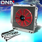87 06 JEEP WRANGLER YJ TJ L4 L6 3 ROW FULL ALUMINUM RACING RADIATOR+RED FAN MT