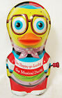 VTG 1960s MATTEL TOYMAKERS TIN TOY ~ I'M HAPPY GO LUCKY THE MUSICAL DUCKY WORKS!