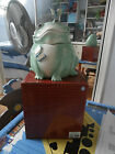 New in Box Quality Fitz and Floyd Living Color Frog w/ Butterflies Cookie Jar