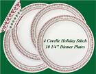 4 Corelle Winter HOLIDAY Cross STITCH 10 1/4