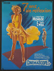 THE SEVEN YEAR ITCH 23X31 1970s RI poster Marilyn Monroe Billy Wilder 7