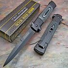 TAC-FORCE Black MICARTA Stiletto Speed Spring Assisted Opening Knife Brand NEW!!