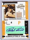 2004 PLAYOFF ABSOLUTE RALPH KINER AUTO BAT 004 100!! HIS JERSEY NUMBER