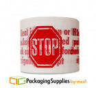 Stop Sign Printed Packing Tape 2 Mil 3 x 110 Yards 240 Rolls 10 Cases
