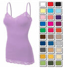 Plus Size Lace TANK TOP CAMI BOZZOLO Camisole Long LAYERING Basic XL 1X 2X 3X