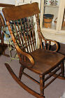 Antique  Rocker, oak, spindles, rocking chair